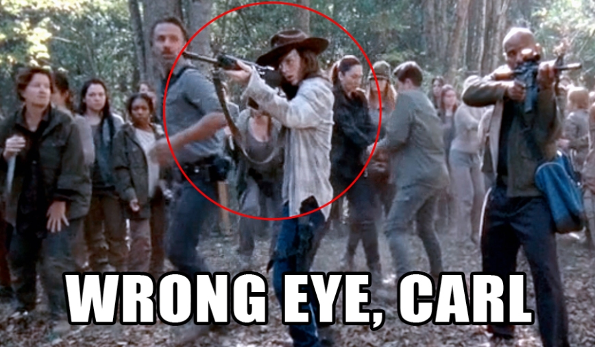 Wrong Eye Carl The Walking Dead Lensebender